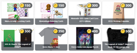 Nintendo physical rewards