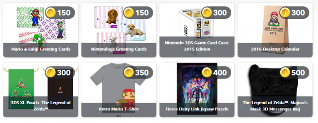 Nintendo physical rewards