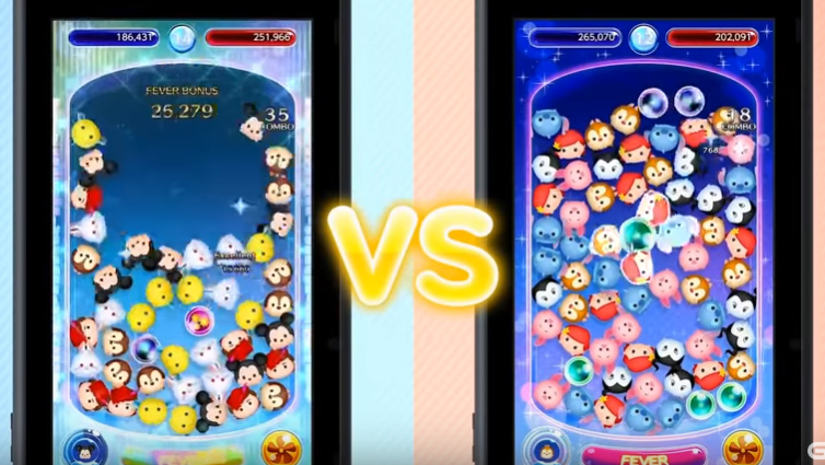 Tsum Tsum puzzle vs screen shot